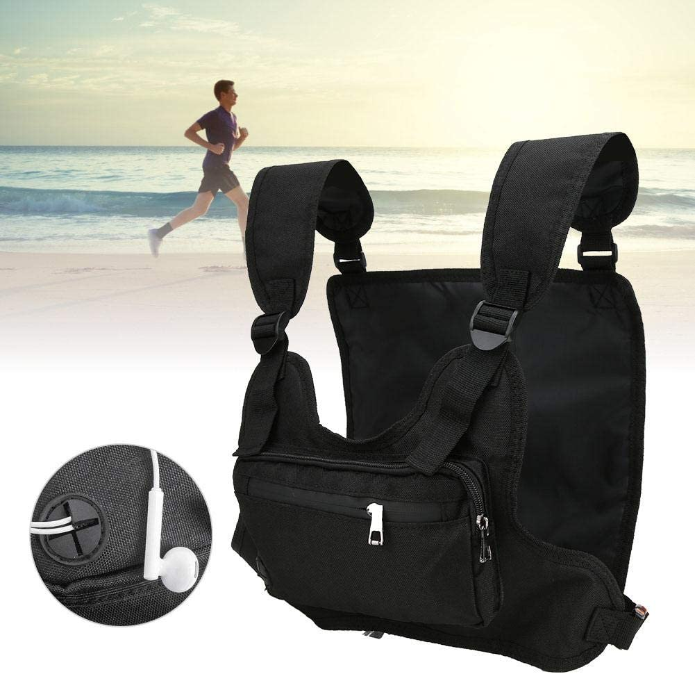 Outdoor Multifunction Sport Leisure Running Tactics Chest Backpack Fitness Vest Bag Weighted Vest